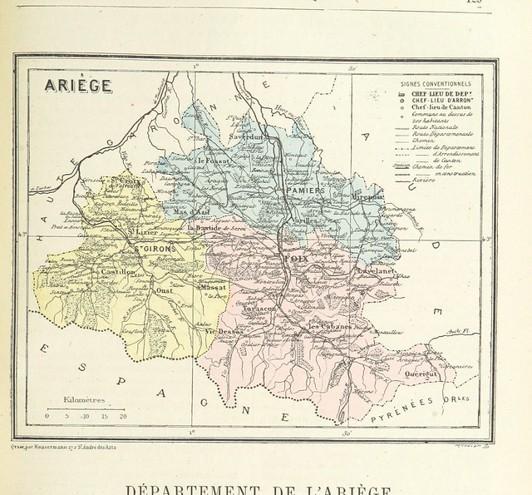 carte departement ariege