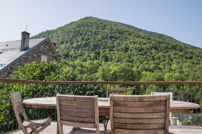 terrasse montagne gite ariege ciboule