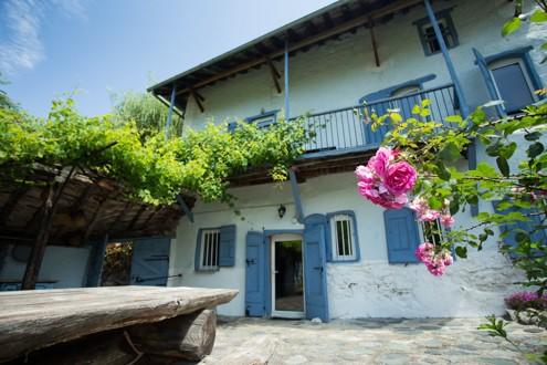 rose maison ariege terrasse