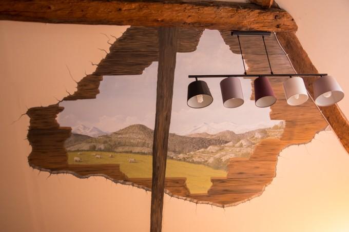 peinture montagne murale